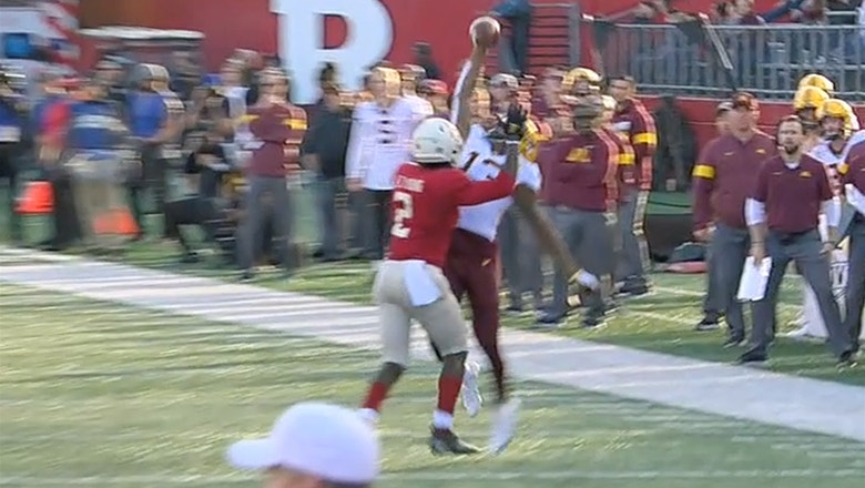 Minnesota WR Rashod Bateman's one-handed catch is an early Play of the Year candidate