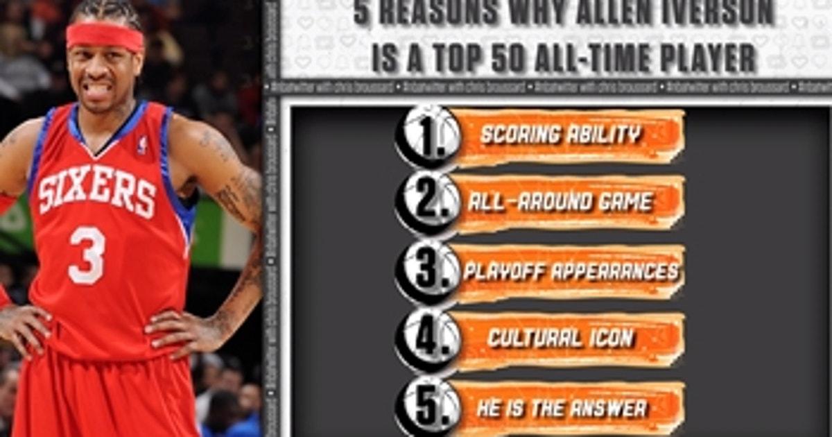 Chris Broussard: Allen Iverson should never be left off an NBA Top 50 All-Time list