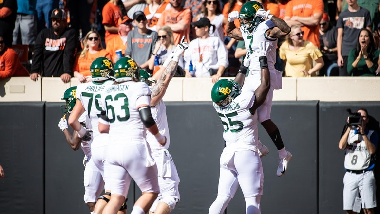 No. 18 Baylor remains unbeaten vs. Oklahoma State behind explosive second half