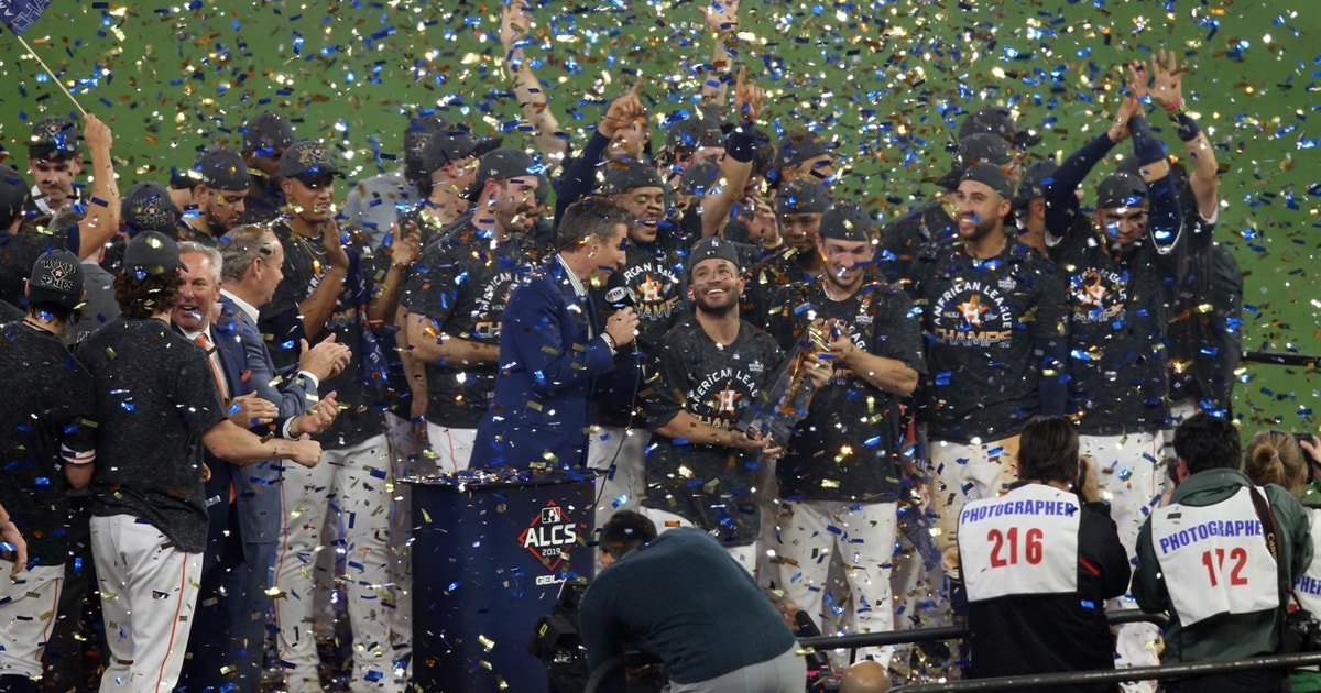 The Houston Astros celebrate 2019 American League Pennant, Altuve named MVP
