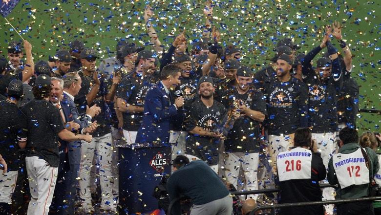 The Houston Astros celebrate 2019 American League Pennant, Altuve named MVP