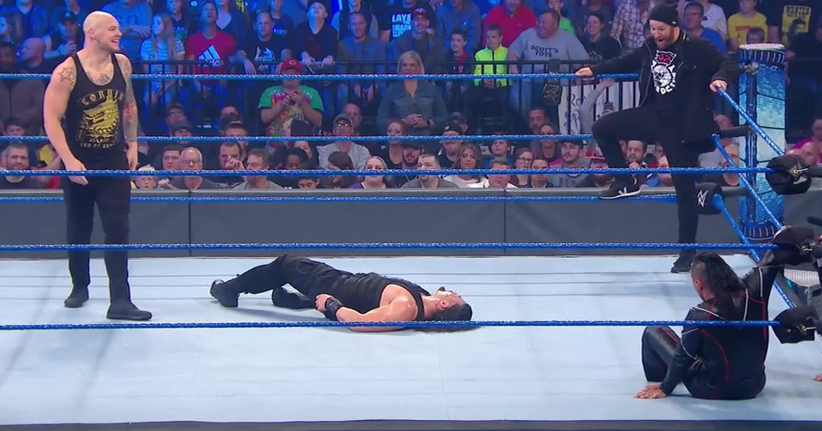Baron Corbin ruins Roman Reigns vs. Shinsuke Nakamura's Intercontinental Title match