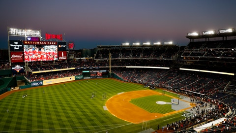 <p>               Nationals Park is seen before Game 5 of the baseball World Series between the Houston Astros and the Washington Nationals Sunday, Oct. 27, 2019, in Washington. (AP Photo/Jeff Roberson)             </p>