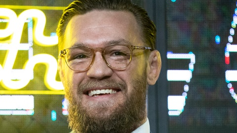<p>               UFC (Ultimate Fighting Championship ) fighter Conor McGregor smiles during a news conference in Moscow, Russia, Thursday, Oct. 24, 2019. McGregor announced that he will fight an undisclosed opponent with the event expected to happen in Las Vegas, USA, in January 2020. (AP Photo/Pavel Golovkin)             </p>