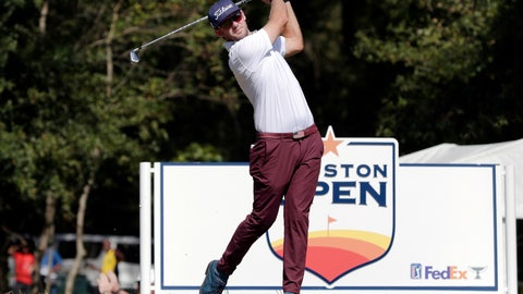 <p>               Lanto Griffin tees off on the second hole during the fourth round of the Houston Open golf tournament Sunday, Oct, 13, 2019, in Houston. (AP Photo/Michael Wyke)             </p>