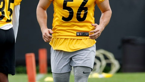 <p>               FILE - In this May 30, 2019, file photo, Pittsburgh Steelers backup linebacker Anthony Chickillo runs a drill during an NFL football practice in Pittsburgh. Misdemeanor charges have been dropped against Chickillo who had been accused of injuring his girlfriend during a fight in their western Pennsylvania hotel room earlier this month. Chickillo had been charged with simple assault, criminal mischief and harassment after the Oct. 20 fight at Nemacolin Woodlands Resort. Fayette County District Attorney Richard Bower said Wednesday, Oct. 30, 2019, that the woman no longer wanted to pursue charges. (AP Photo/Keith Srakocic, File)             </p>