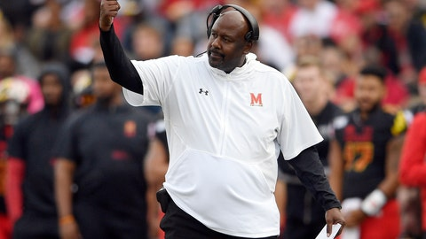<p>               FILE - In this Saturday, Oct. 19, 2019, file photo, Maryland head coach Mike Locksley gestures during the first half of an NCAA football game against Indiana in College Park, Md. In his first year at Maryland, Locksley has formed a close rapport with his players. Although the Terrapins (3-4, 1-3) have dropped four of five and appeared destined for a fourth consecutive losing season, no one has asked for a redshirt. (AP Photo/Nick Wass, File)             </p>