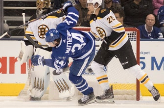 Marner scores in OT to lift Maple Leafs past Bruins 4-3