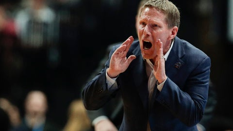 <p>               FILE - In this March 30, 2019, file photo, Gonzaga coach Mark Few shouts during the second half of the team's West Regional final against Texas Tech in the NCAA men's college basketball tournament, in Anaheim, Calif. (AP Photo/Jae C. Hong, File)             </p>