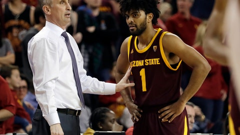 "<p>               FILE - In this Jan. 26, 2019, file photo, Arizona State coach Bobby Hurley, left, talks to guard Remy Martin during the second half of the team's NCAA college basketball game against Southern California in Los Angeles. The Sun Devils won their first NCAA Tournament game in a decade by beating St. John's in the First Four last year before losing to Hurley's former team, Buffalo. Now they want more. ""Even though we've done a good amount, I'm still not satisfied, I still want to make it further,"" Martin said. ""For those guys that left, they did great but we're here now and we've got to figure out how to win."" (AP Photo/Marcio Jose Sanchez, File)             </p>"