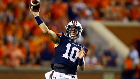 <p>               Auburn quarterback Bo Nix (10) throws a pass during the second half of an NCAA college football game against Mississippi State, Saturday, Sept. 28, 2019, in Auburn, Ala. (AP Photo/Butch Dill)             </p>