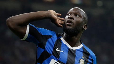 "<p>               FILE - In this Saturday, Sept.21, 2019 file photo, Inter Milan's Romelu Lukaku celebrates after scoring during a Serie A soccer match between AC Milan and Inter Milan, at the San Siro stadium in Milan, Italy. The Italian soccer federation is considering employing an advanced listening device used in anti-terrorism operations to identify fans who sing racist chants. Federation president Gabriele Gravina has detailed ""a passive radar device that uses directional microphones to determine the source of the noise."" (AP Photo/Luca Bruno, File)             </p>"