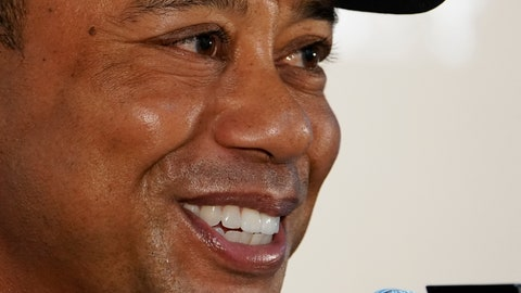 <p>               Tiger Woods of the United States answers a reporter's question during a news conference ahead of the Challenge: Japan Skins event at Accordia Golf Narashino C.C. in Inzai, Japan, Monday, Oct. 21, 2019. Tiger Woods will play at the Zozo Championship PGA Tour which will be held at Oct. 24-27. (AP Photo/Lee Jin-man)             </p>
