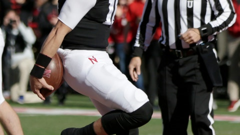 <p>               Nebraska quarterback Noah Vedral (16) reacts after scoring a touchdown against Indiana during the first half of an NCAA college football game in Lincoln, Neb., Saturday, Oct. 26, 2019. (AP Photo/Nati Harnik)             </p>