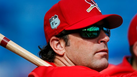 <p>               FILE - In this March 17, 2017, file photo, St. Louis Cardinals manager Mike Matheny (22) watches batting practice before a spring training baseball game against the New York Mets in Port St. Lucie, Fla. The Kansas City Royals have hired Matheny as manager on Thursday, Oct. 31, 2019. The 49-year-old Matheny was manager of the cross-state Cardinals from 2012-18, going 591-474 and becoming the first manager to reach the postseason his first four seasons.  (AP Photo/John Bazemore, File)             </p>