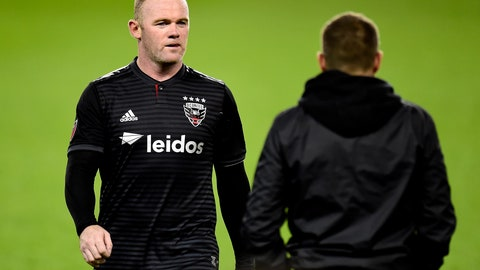 <p>               D.C. United forward Wayne Rooney walks off the pitch for the last time in his MLS career, an MLS Eastern Conference first-round playoff soccer match against Toronto FC in Toronto on Saturday, Oct. 19, 2019. (Frank Gunn/The Canadian Press via AP)             </p>