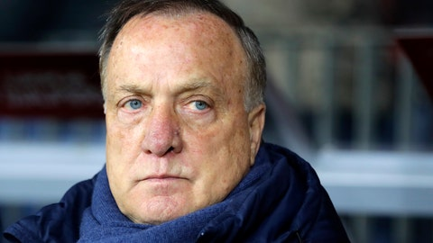 <p>               FILE  - In this Saturday, Oct. 7, 2017 file photo, Netherlands' coach Dick Advocaat stands on the sidelines ahead of the World Cup Group A qualifying soccer match between Belarus and Netherlands, at the Borisov-Arena stadium, in Borisov, Belarus. Feyenoord has hired Dick Advocaat to succeed Jaap Stam, who resigned Monday, Oct. 28, 2019 after less than half a season in charge of the struggling Rotterdam club. (AP Photo/Sergei Grits, File)             </p>