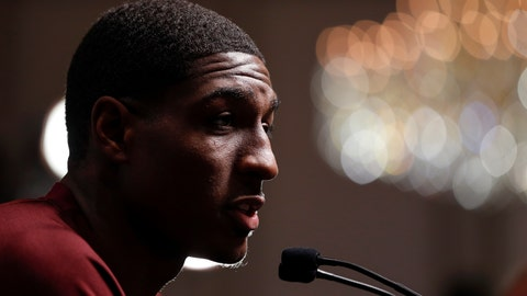 <p>               Mississippi State's Reggie Perry speaks during the Southeastern Conference NCAA college basketball media day, Wednesday, Oct. 16, 2019, in Birmingham, Ala. (AP Photo/Butch Dill)             </p>