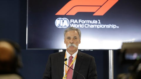 <p>               Formula One chairman Chase Carey speaks during a news conference at the Formula One U.S. Grand Prix auto race at the Circuit of the Americas, Thursday, Oct. 31, 2019, in Austin, Texas. (AP Photo/Darron Cummings)             </p>