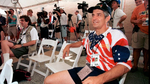 "<p>               FILE - In this July 25, 1996 file photo, Jim 'Mattress Mack' McIngvale listens during a press conference at the the Atlanta Chamber of Commerce building in Atlanta. Jim McIngvale, a mattress store owner from Houston who calls himself ""Mattress Mack,"" plans to bet at least $1.5 million on the Astros in New Jersey on Thursday, Oct. 3, 2019. (Richard Carson/Houston Chronicle via AP)             </p>"