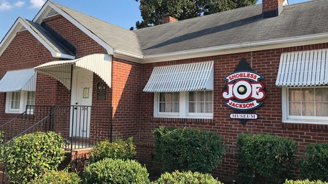<p>               In this Sept. 29, 2019, photo, the Shoeless Joe Jackson Museum is shown in Greenville, S.C. (AP Photo/Paul Newberry)             </p>
