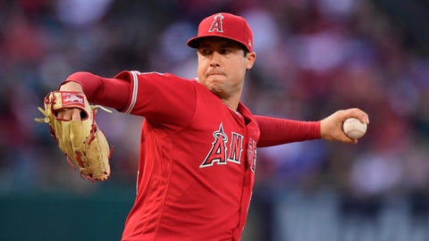 """<p>               FILE - In this May 25, 2019, file photo, Los Angeles Angels starting pitcher Tyler Skaggs throws during the first inning of a baseball game against the Texas Rangers in Anaheim, Calif. The Angels say they do not know whether a longtime public relations official had been providing drugs to late pitcher Skaggs, as detailed in a report on ESPN's """"Outside the Lines."""" Eric Kay, a 24-year employee of the Angels' PR department, told the Drug Enforcement Agency he had provided opioids to Skaggs and used them with the pitcher for years, according to the ESPN report Saturday, Oct. 12, 2019. Kay reportedly watched as Skaggs snorted three lines of crushed pills in his hotel room in Texas, on the night before he was found dead. (AP Photo/Mark J. Terrill, File)             </p>"""