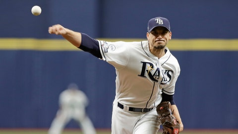 <p>               Tampa Bay Rays starting pitcher Charlie Morton (50) throws during the first inning of Game 3 of a baseball American League Division Series against the Houston Astros, Monday, Oct. 7, 2019, in St. Petersburg, Fla. (AP Photo/Chris O'Meara, Pool)             </p>