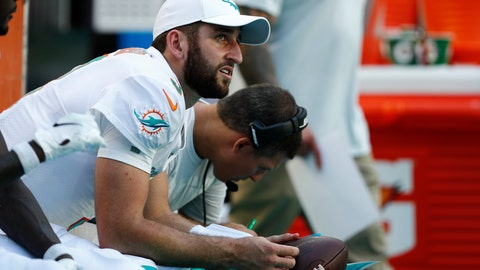 "<p>               FILE - In this Sunday, Sept. 8, 2019, file photo, Miami Dolphins quarterback Josh Rosen (3) looks up from the sidelines during the second half at an NFL football game in Miami Gardens, Fla. You can take that ""any given Sunday"" bromide and toss it out with some of Case Keenum's interceptions. So far in 2019, there is a Grand Canyon of separation between the contenders and everybody else. (AP Photo/Brynn Anderson, File)             </p>"