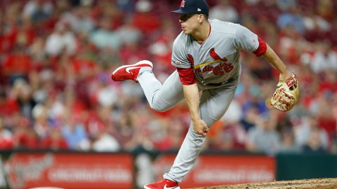 <p>               FILE - In this Aug. 15, 2019, file photo, St. Louis Cardinals relief pitcher Ryan Helsley throws against the Cincinnati Reds during the eighth inning of a baseball game in Cincinnati. Helsley was disappointed by his first exposure to the Atlanta Braves' fans use of the Tomahawk Chop for their chants during games. Helsley's vantage point is different than most players who visit SunTrust Park. He is a member of the Cherokee nation.  (AP Photo/Gary Landers, File)             </p>