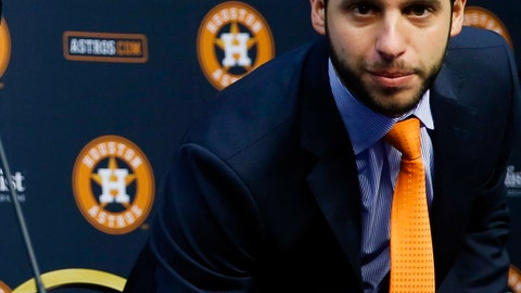 <p>               FILE - In this Jan. 17, 2018, file photo, Houston Astros Senior Director of Baseball Operations Brandon Taubman attends a baseball news conference in Houston. The Astros have fired Taubman for directing inappropriate comments at female reporters following Houston's pennant-winning victory over the New York Yankees.  (Michael Ciaglo/Houston Chronicle via AP)             </p>