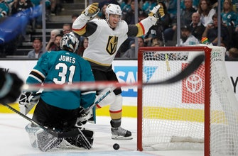 Nosek scores 2, leads Golden Knights to 5-1 win over Sharks