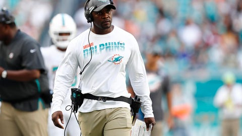 <p>               Miami Dolphins head coach Brian Flores follows a play, during the second half at an NFL football game against the Washington Redskins, Sunday, Oct. 13, 2019, in Miami Gardens, Fla. (AP Photo/Brynn Anderson)             </p>