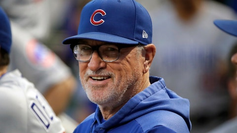 <p>               FILE - In this Sept. 25, 2019, file photo, then-Chicago Cubs manager Joe Maddon stands in the dugout before a baseball game against the Pittsburgh Pirates, in Pittsburgh. Joe Maddon has agreed to become the Los Angeles Angels' manager. Maddon and the Angels agreed to terms Wednesday, Oct. 16, 2019, on a deal to reunite the veteran manager with the organization where he spent the first three decades of his baseball career. (AP Photo/Gene J. Puskar, File)             </p>