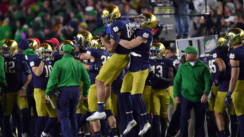 No. 9 Notre Dame holds off late surge from USC to improve to 5-1