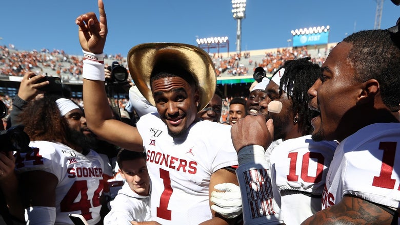 EXCLUSIVE: Follow Jalen Hurts through Oklahoma's postgame celebration after win over Texas