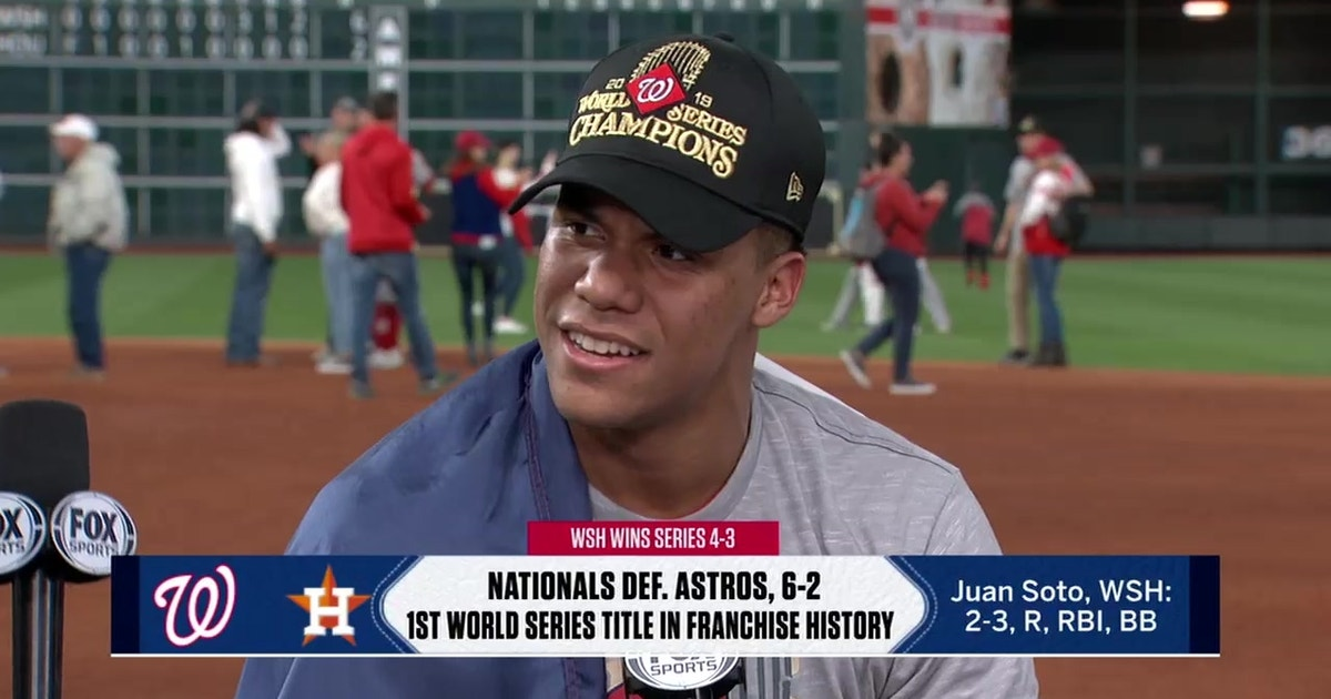 Washington Nationals' breakout star Juan Soto moments after winning the World Series: 'I'm living the dream'