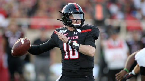 FALL GUY: Alan Bowman, Texas Tech QB