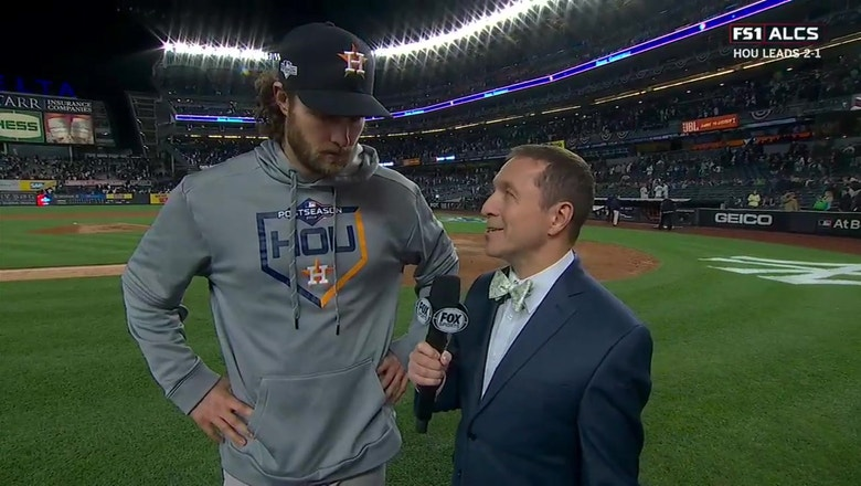 Gerrit Cole on pitching without his best stuff after Houston wins Game 3 of the ALCS