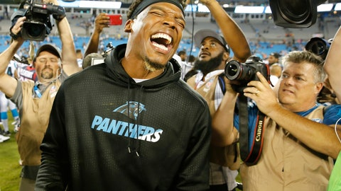 <p>               FILE - In this Aug. 9, 2017, file photo, Carolina Panthers quarterback Cam Newton laughs after the second half of an NFL preseason football game against the Houston Texans, in Charlotte, N.C. Cam Newton is a former league MVP and the long-time face of the Panthers franchise. But it's hard not to wonder if his future in Carolina is coming to an end following his recent spate of injuries. (AP Photo/Jason E. Miczek, File)             </p>