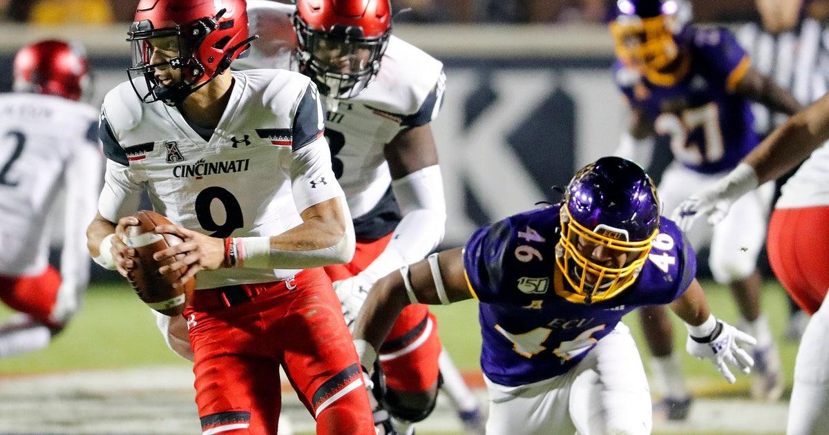 No. 17 Cincinnati escapes with 46-43 victory over ECU thumbnail