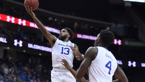 <p>               Seton Hall guard Myles Powell (13) makes a layup during the second half of an NCAA college basketball game against Florida A&M, Saturday, Nov. 23, 2019 in Newark, N.J. (AP Photo/Sarah Stier)             </p>