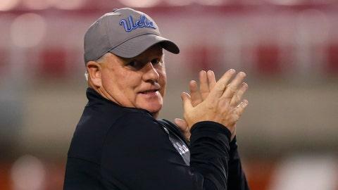 <p>               UCLA head coach Chip Kelly looks on before an NCAA college football game against Utah Saturday, Nov. 16, 2019, in Salt Lake City. (AP Photo/Rick Bowmer)             </p>