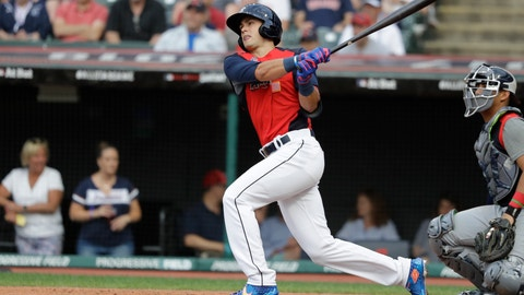 <p>               FILE - In this July 7, 2019, file photo, Evan White, of the Seattle Mariners, hits during the MLB All-Star Futures baseball game, in Cleveland. A person with knowledge of the deal says the Seattle Mariners are locking up one of their top minor league prospects for the long-term, agreeing to a $24 million, six-year contract with first baseman Evan White before he makes his major league debut. The person spoke to The Associated Press on Friday, Nov. 22, 2019, on the condition of anonymity because the deal had not been announced.  (AP Photo/Darron Cummings, File)             </p>