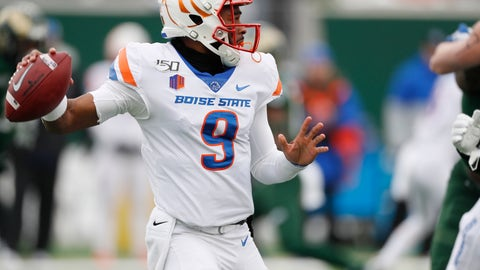 <p>               Boise State quarterback Jaylon Henderson looks to pass against Colorado State during the first half of an NCAA college football game Friday, Nov. 29, 2019, in Fort Collins, Colo. (AP Photo/David Zalubowski)             </p>