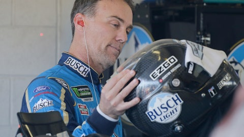 <p>               Kevin Harvick prepares to practice for a NASCAR Cup Series auto race on Saturday, Nov. 16, 2019, at Homestead-Miami Speedway in Homestead, Fla. Harvick is one of four drivers racing for the championship. (AP Photo/Terry Renna)             </p>