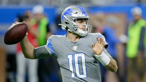 <p>               Detroit Lions quarterback David Blough throws during the first half of an NFL football game against the Chicago Bears, Thursday, Nov. 28, 2019, in Detroit. (AP Photo/Duane Burleson)             </p>