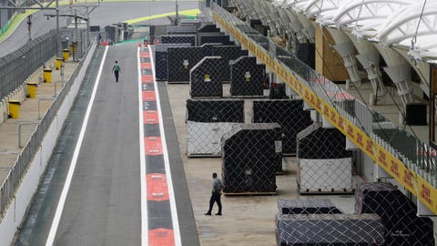 <p>               In this Nov. 7, 2019 photo, security personnel guard patrol at the Interlagos racetrack in Sao Paulo, Brazil. Residents consider the upcoming F1 week the city's main event, even if they don't all watch the sport. Since 1972, with a 10-year gap of F1 in Rio, the Brazilian GP has put the city on the map for high-spending tourists. (AP Photo/Nelson Antoine)             </p>