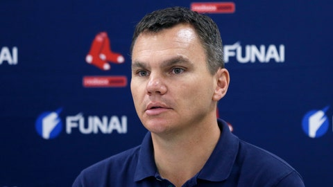 <p>               FILE - In this March 24, 2014, file photo, Boston Red Sox general manager Ben Cherington is shown during a press conference in Boston. A person familiar with the decision says the Pittsburgh Pirates have agreed to hire Ben Cherington as their general manager. The person spoke to The Associated Press on condition of anonymity Friday, Nov. 15, 2019, because the agreement has not been announced. (AP Photo/Carlos Osorio, File)             </p>