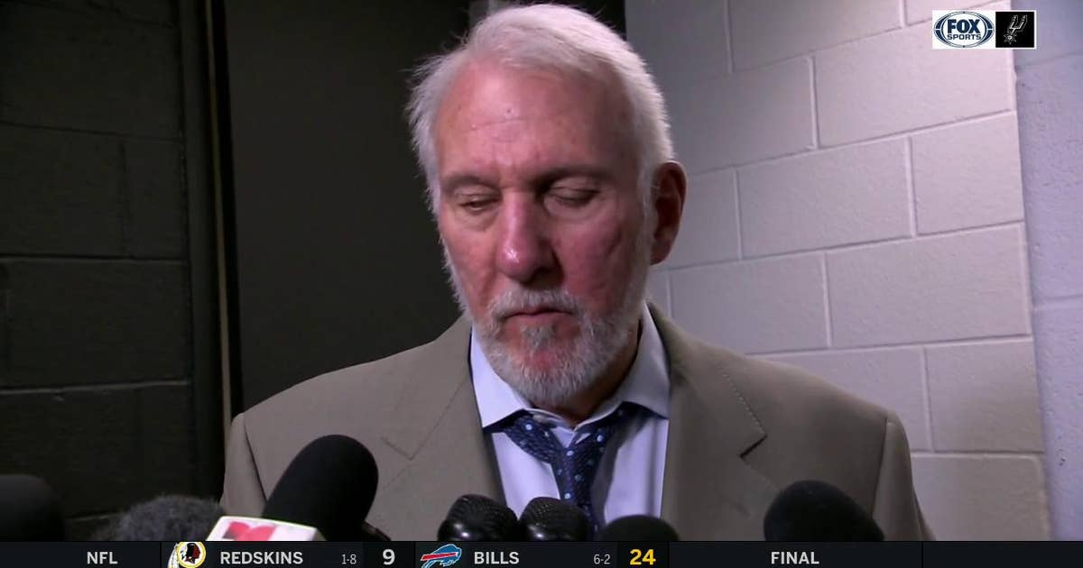 Gregg Popovich on the Spurs loss to the Lakers