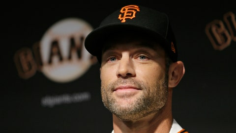 <p>               San Francisco Giants manager Gabe Kapler smiles after being introduced during a news conference at Oracle Park Wednesday, Nov. 13, 2019, in San Francisco. Gabe Kapler has been hired as manager of the San Francisco Giants, a month after being fired from the same job by the Philadelphia Phillies. Kapler replaces Bruce Bochy, who retired at the end of the season following 13 years and three championships with San Francisco. (AP Photo/Eric Risberg)             </p>